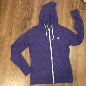 Nike zipper front jacket MED
